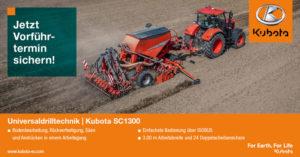 Vorführtermin vereinbaren für Universaldrilltechnik | Kubota SC1300